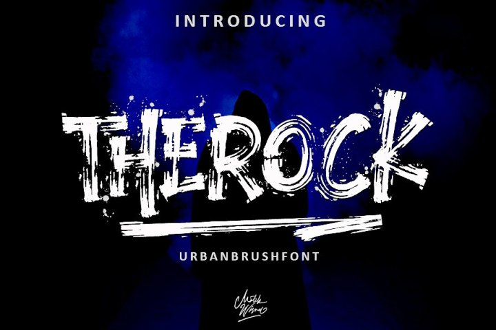 The Rock Display Brush Font