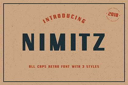 Nimitz Free All Caps Font