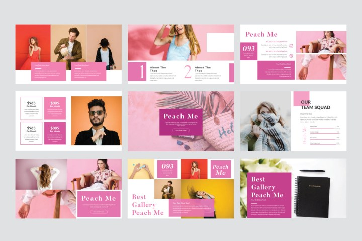 Peachme Free Presentation Template