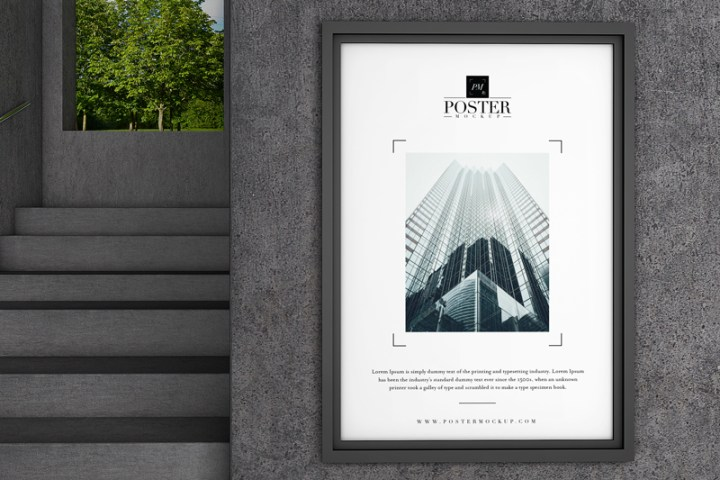 Free Industrial Poster Mockup