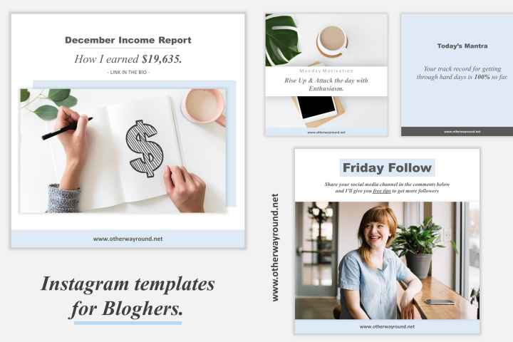 Bloghers Free Instagram templates