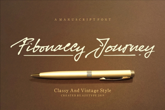 Fibonaccy Journey Font Demo