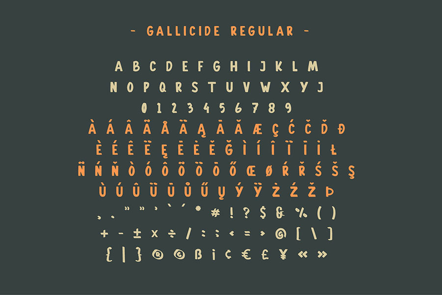 Gallicide Display Font Family