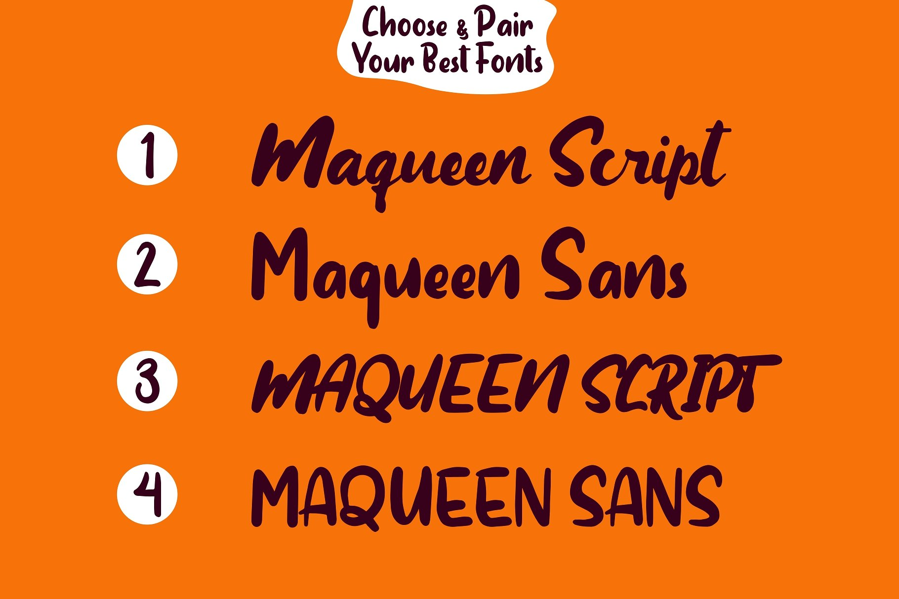 Maqueen Free Font Duo