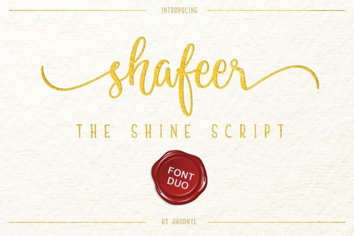 Shafeer Handlettering Font Duo