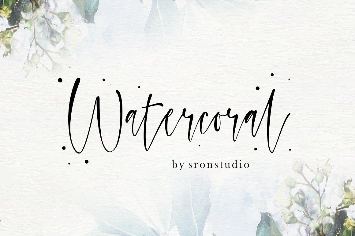 Watercoral Script Free Demo