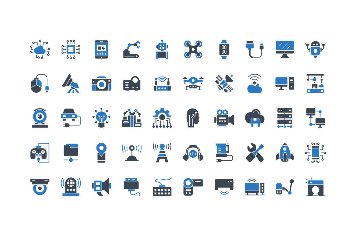 50 Free Technology Icons