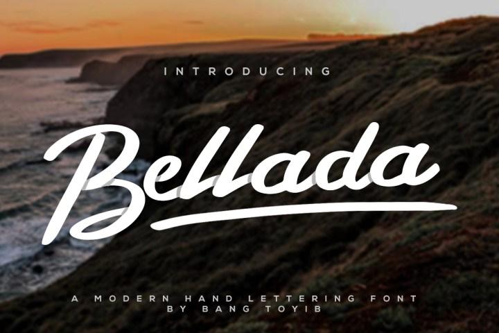 Bellada Brush Font Demo