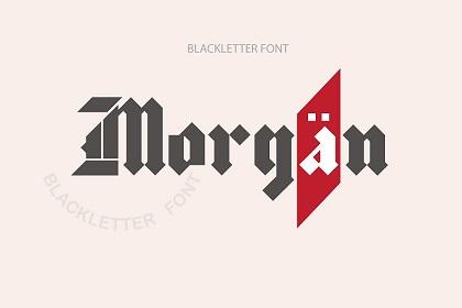 Morgan Blackletter Font Demo