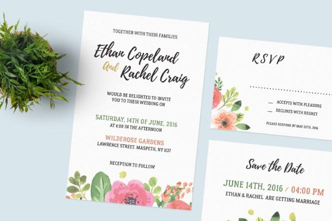 Free Wedding Invitation Set Design Resources