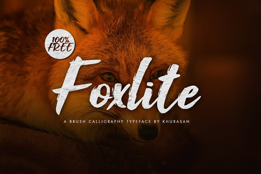 Foxlite Free Brush Script