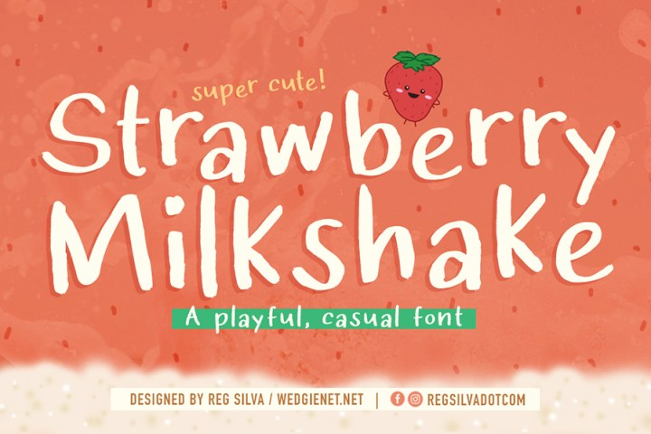 Strawberry Milkshake Font Demo