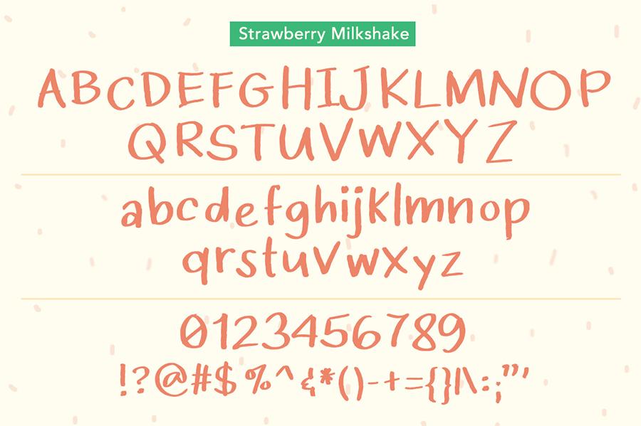 Strawberry Milkshake Font Demo