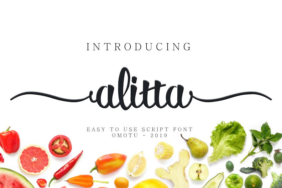 Alitta Script Font Demo