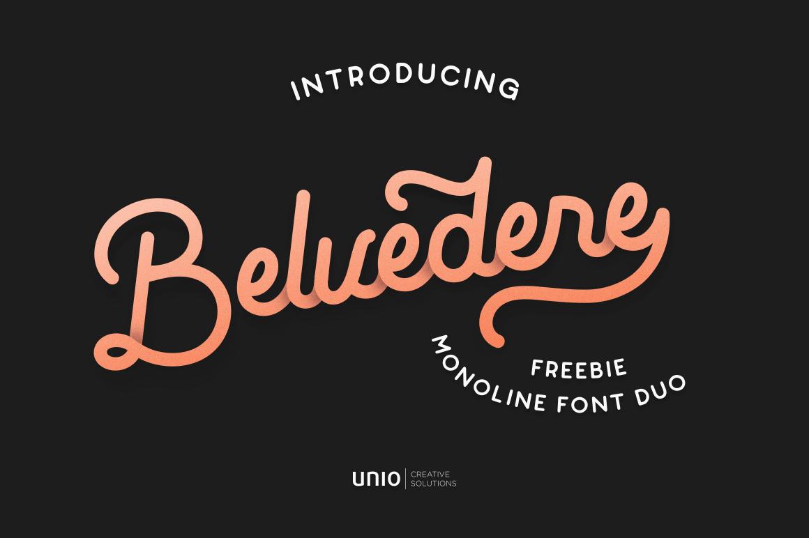Belvedere Font Duo Demo