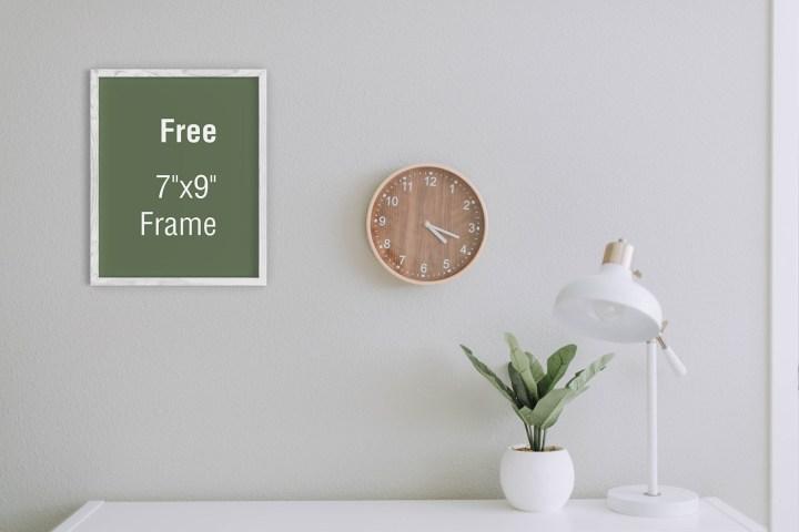 Free Interior Frame Mockup