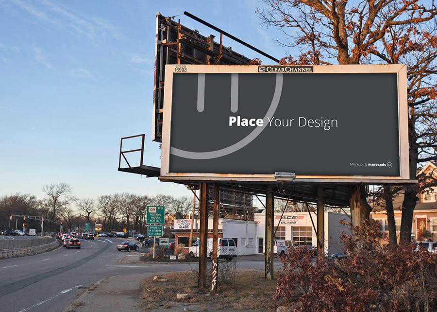 Free Outdoor Billboard Mockup