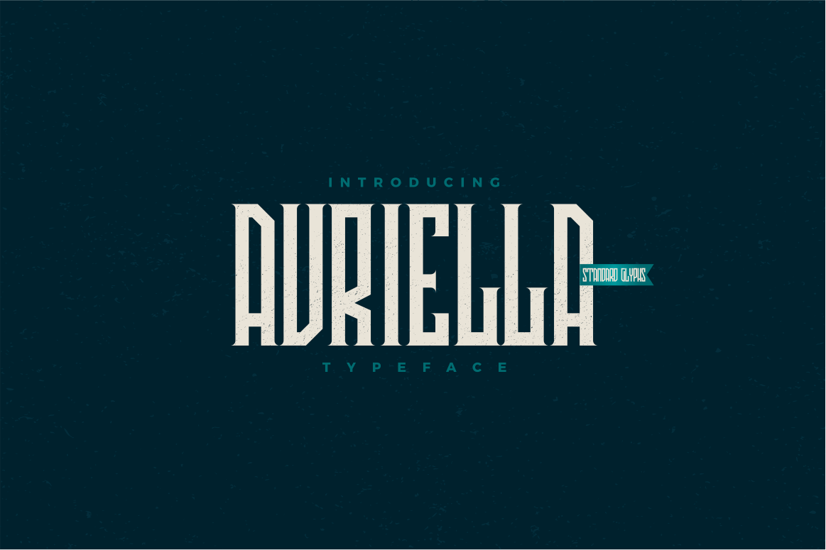 Avriella Display Font Demo