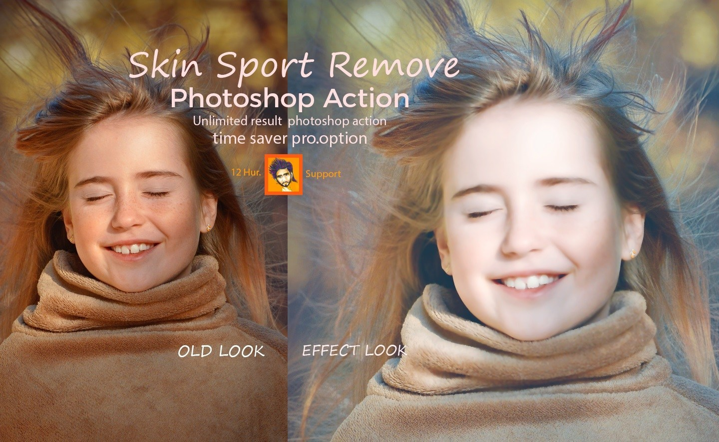Skin Spot Remove Photoshop Action