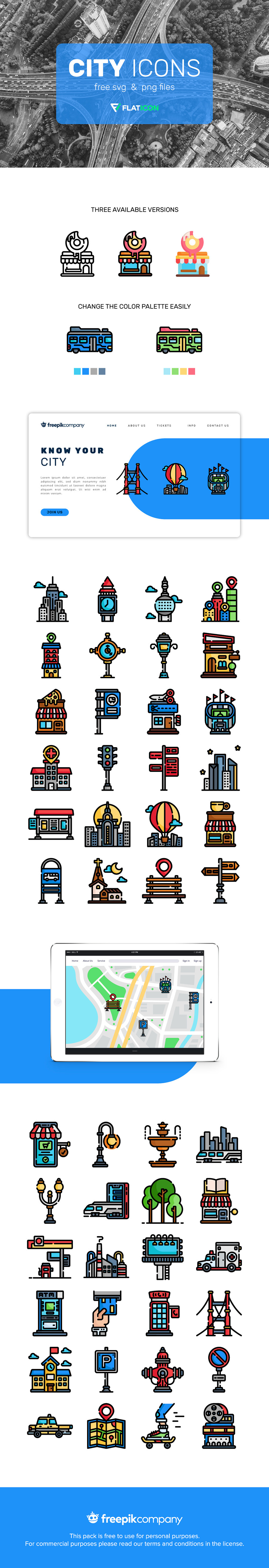 Free Vector City Icons