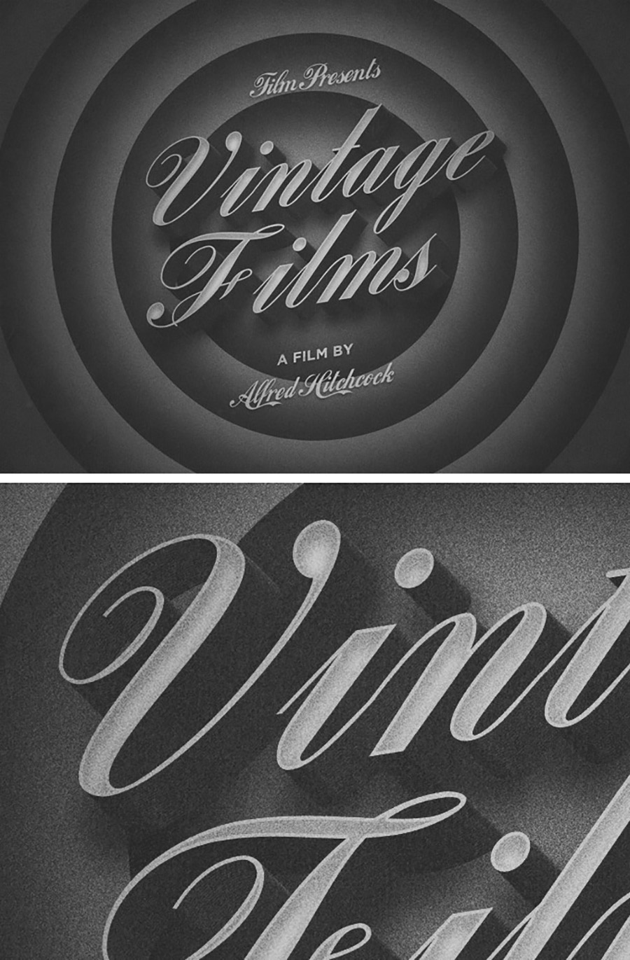 Old Movie PSD Text Effect