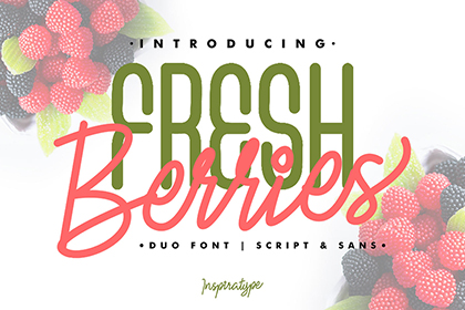 Fresh Berries Font Duo