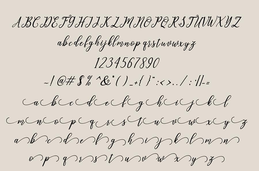Leighton Handlettering Font