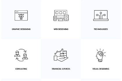 35 Linear Services Icons