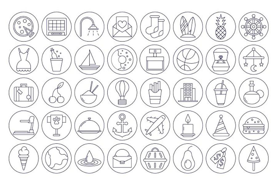 40 Instagram Highlight Icons