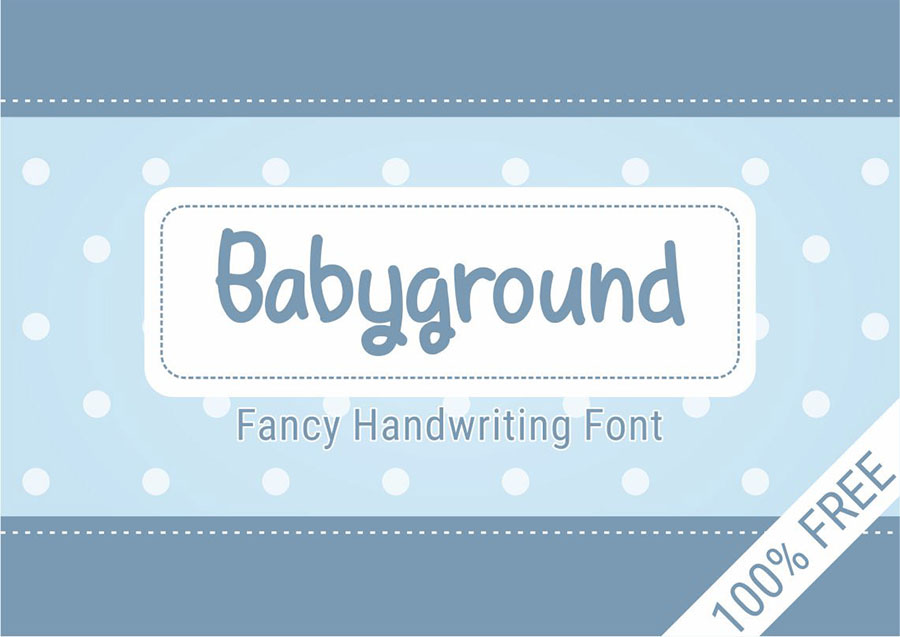 Babyground Free Display Font