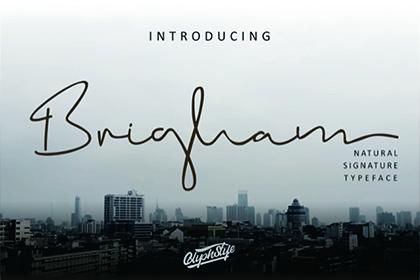 Brigham Script Font Demo