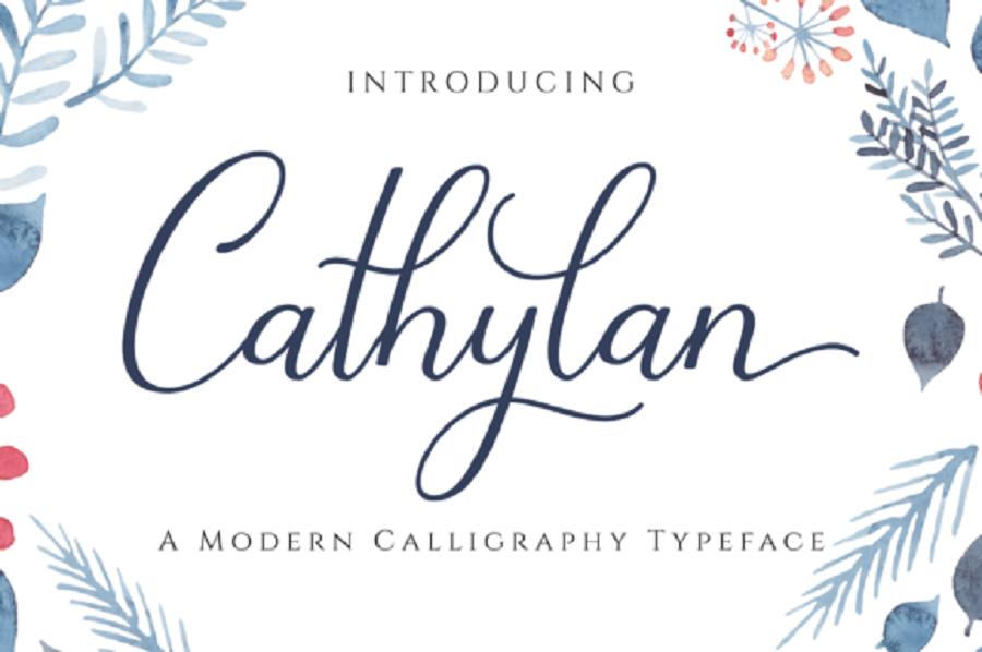 Cathylan Script Free Font