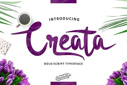 Creata Script Free Demo – Free Design Resources