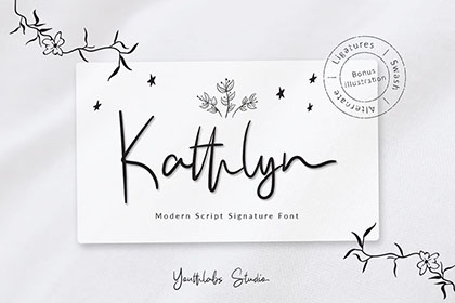 Kathlyn Signature Font Demo