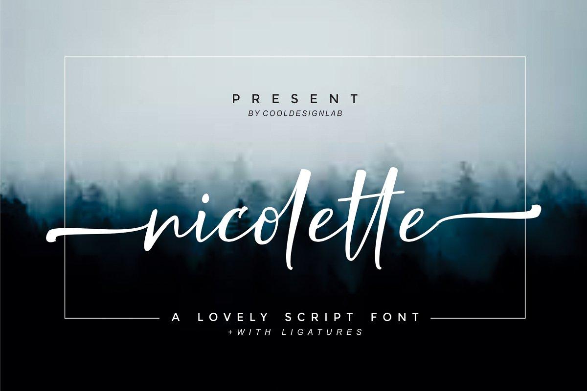 Nicolette Script Free Demo