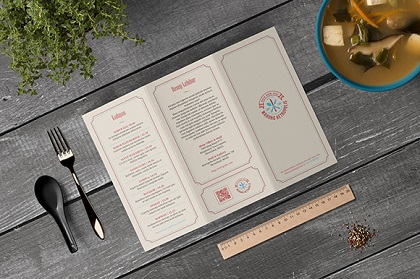 Retropolis Menu Vector Template
