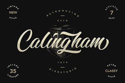 Calingham Script Free Demo
