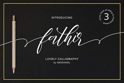 Fathir Lovely Calligraphy Script
