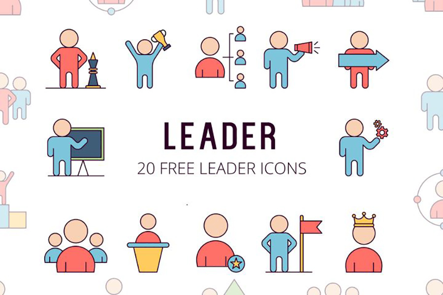 Leader Vector Icon Set