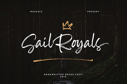 Sail Royals Brush Script