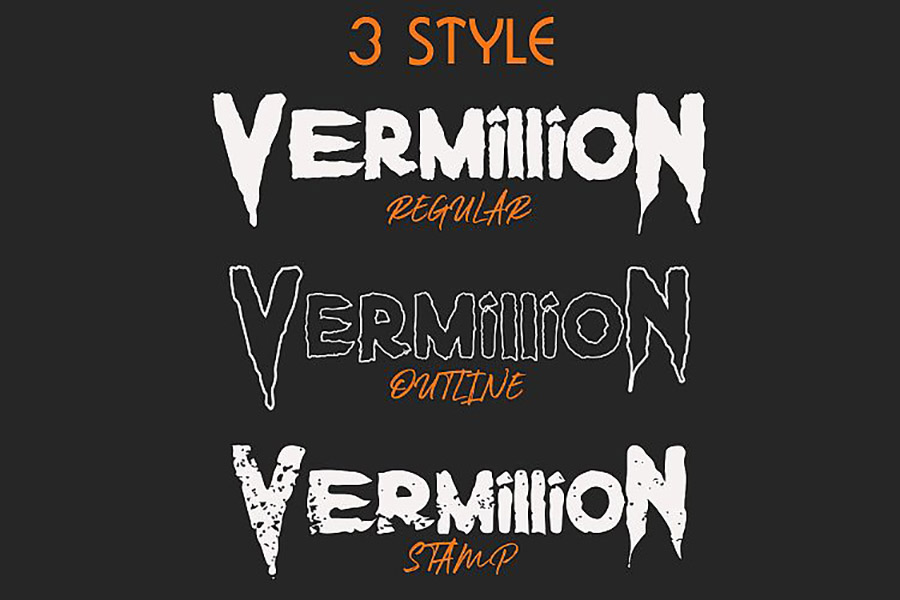 Vermillion Display Font Demo