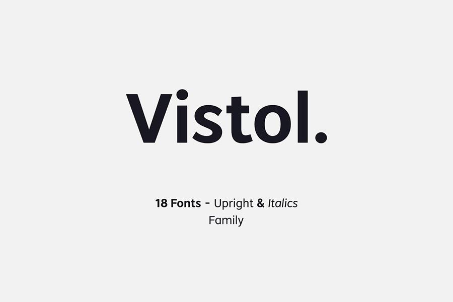 Vistol Sans Serif Demo