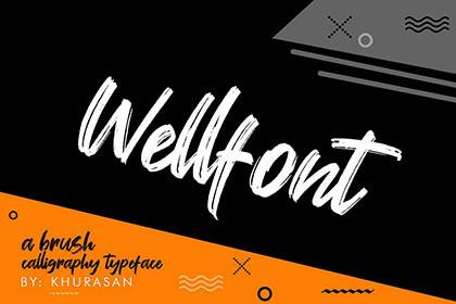 Wellfont Script Free Demo
