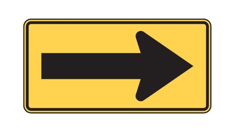 Large arrow - W1-6