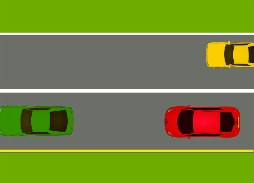 Pavement markings with a solid white line between lanes - freedmvtest.info