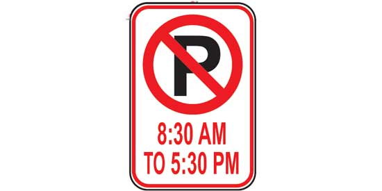 Free DMV Test - U,S. Road Sign Test - No Parking