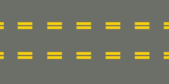 Normal broken double yellow lines - FreeDMVTest.info