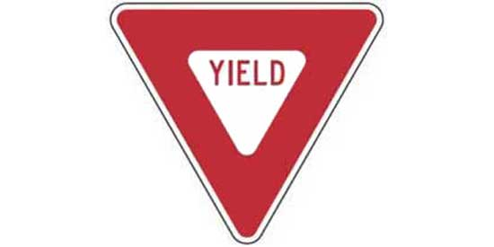 Triangular sign
