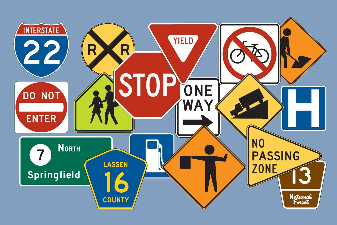 Shapes And Colors Of Traffic Signs