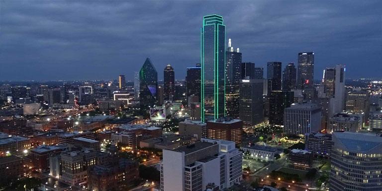 Dallas Skyline - Free DMV Test.com copyright: Xzelenz Media